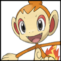 Generation IV Button - Chimchar