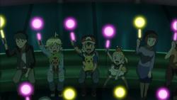 Stemmen bij een Pokémon Show
