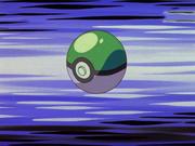 Green Poké Ball anime