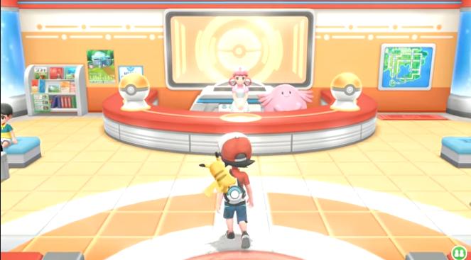 Lets go pokemon center