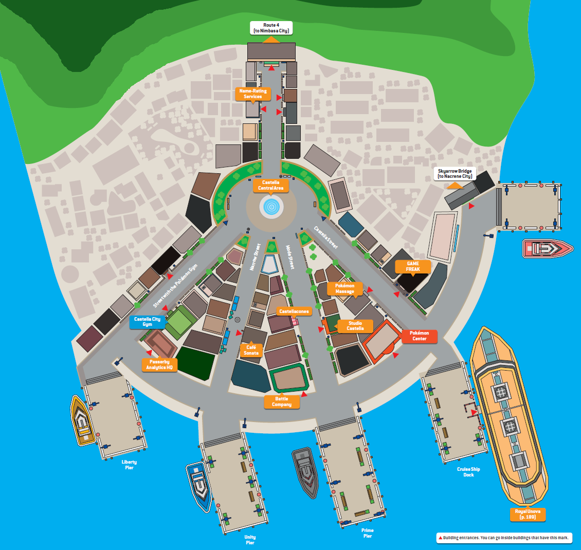 Image Map of Castelia Citypng Pokmon Wiki FANDOM powered by