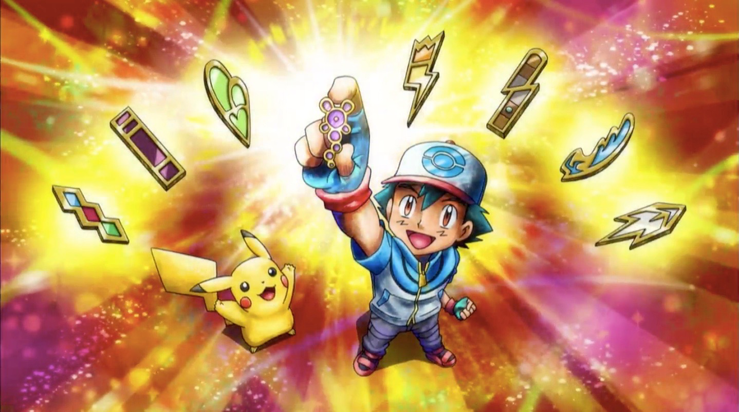 File:Ash's Up to date Unova Gym Badges.png