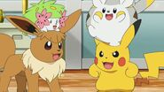 Pikachu, Togedemaru, Sandy, & Shaymin