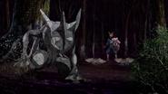 Greninja and Ninjask turning into stone