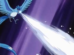 Articuno anime Ice Beam
