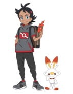 Goh with Scorbunny