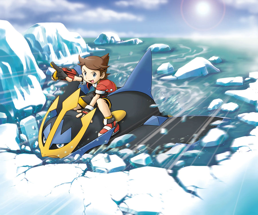 image soa kellyn riding on empoleon on ice lake png pokémon wiki