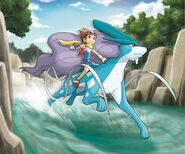 Riding Suicune - Pokemon Ranger Guardian Signs