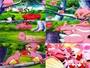 Pokémon eating Pinkan Berries (2)