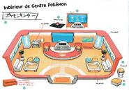 Pokémon Center-Inside Lets Go Pikachu Eevee