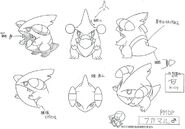 Gible male concept