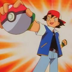 Эш поймал первого покемона