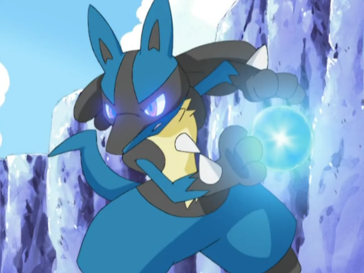 Riley Lucario Aura Sphere