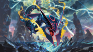 Shiny Mega Rayquaza - Pokemon TCG XY Ancient Origins