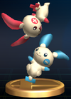 Plusle and Minun trophy SSBB