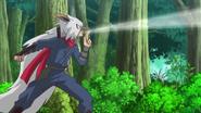 Saizo using his ninja skills XY052