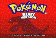 Pokemon Ruby title screen