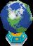 도트 아이콘 지구본