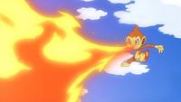 Ash Chimchar Flamethrower