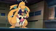 Iris defending Dragonite