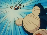 Ash Snorlax Mega Kick