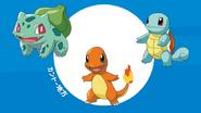 Kanto Starter Pokémon Anime