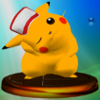 Pikachu (Smash 2) trophy SSBM