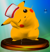 Pikachu (Smash 2) trophy SSBM