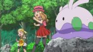 Serena en Bonnie met Goomy