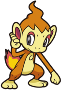 390Chimchar DP anime 6