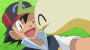 Ash and Bayleef