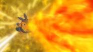Ash Pignite Flamethrower