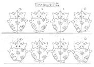 Togepi anime model sheet 3