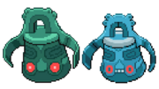 Beta and final Bronzong sprite