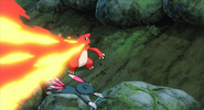 Professor Oak Charmeleon Flamethrower