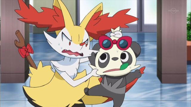 File:Serena Braixen and Pancham glaring.jpg