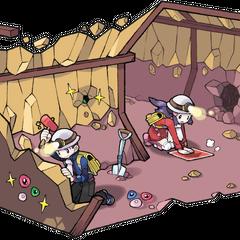Доун и Лукас под землёй