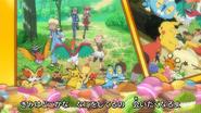 Character Pokémon in Japanese ending