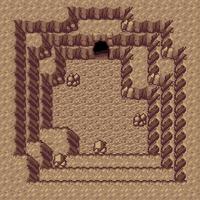 루사 바위동굴 성호가 있는 방