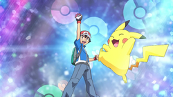 Ash catches a Pokemon