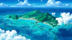 Melemele Island anime