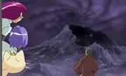 시커먼 먹구름이 가득찬 천관산