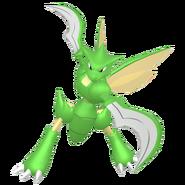 123Scyther Female Pokémon HOME