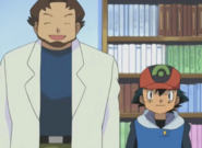 Ash and Professor Birch