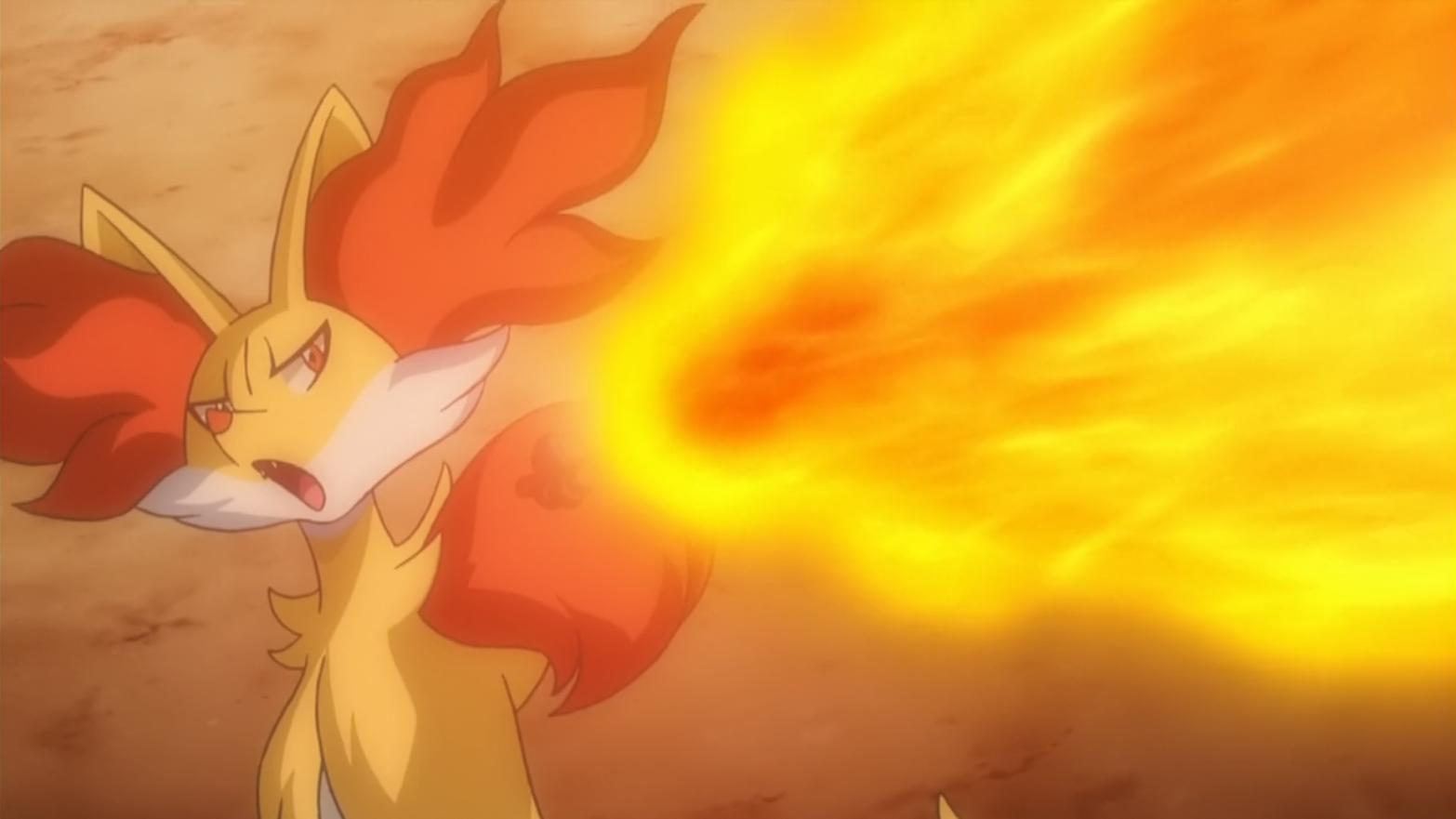 Aria Delphox Flamethrower