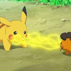 Пикачу и Деденне переговариваются через электричество