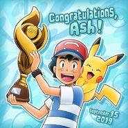 Ash First Pokémon League Victory