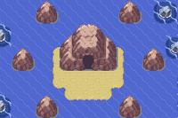루사에 작은 섬 옆굴