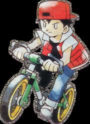 적녹 자전거 일러스트