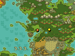 월드맵 괴상한 숲